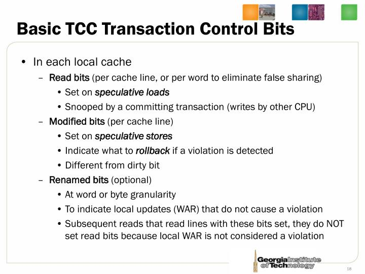 Basic TCC Transaction Control Bits