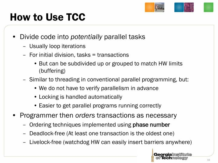 How to Use TCC