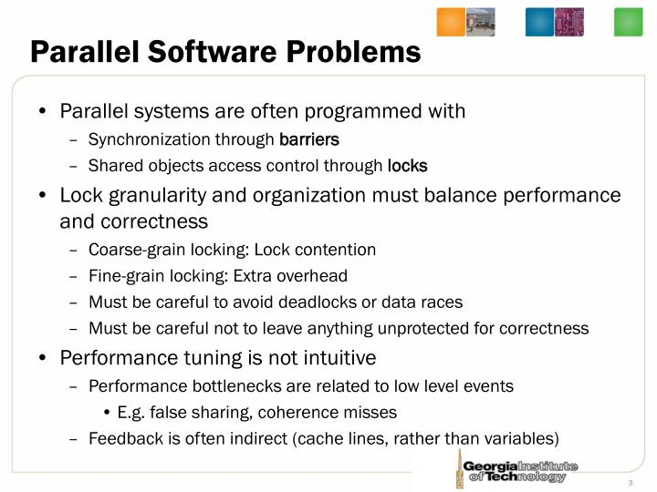 Parallel software problems