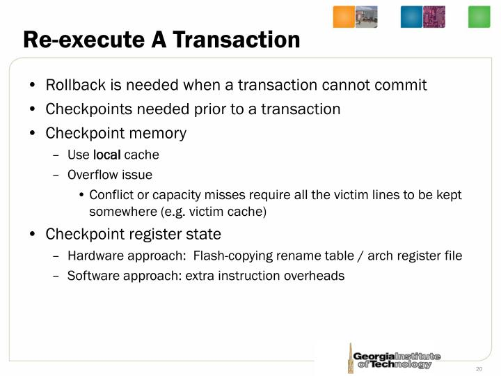 Re-execute A Transaction