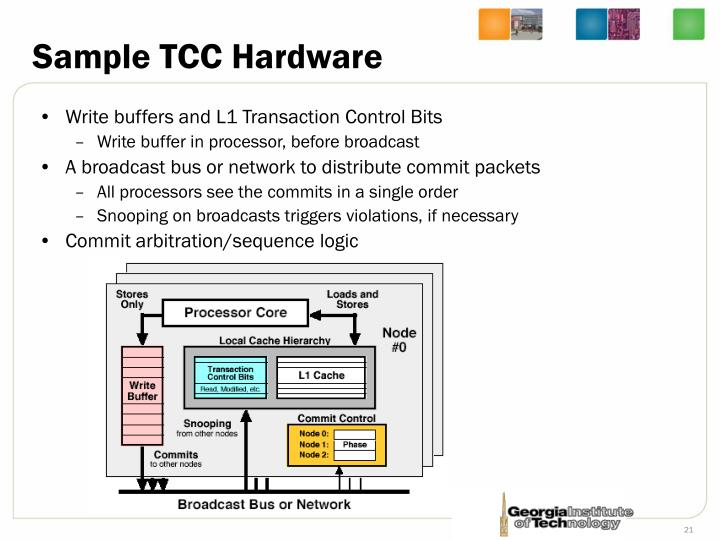 Sample TCC Hardware
