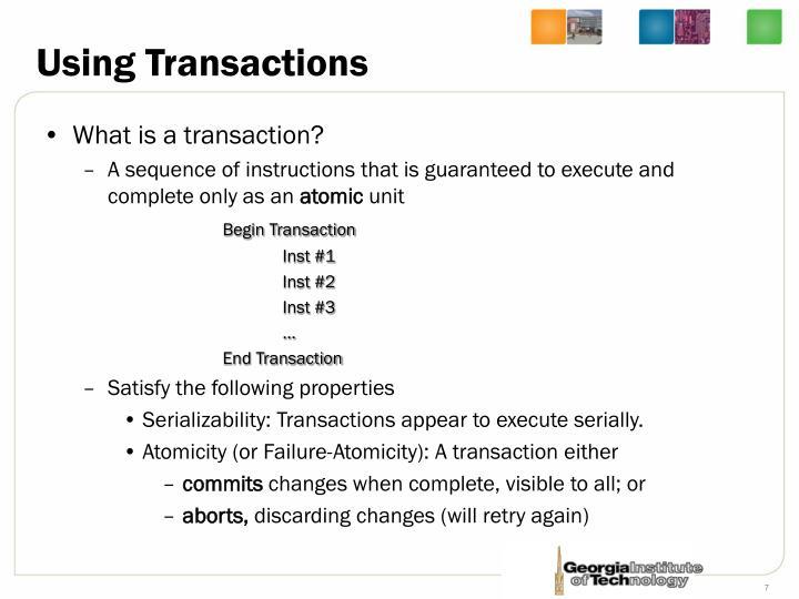 Using Transactions