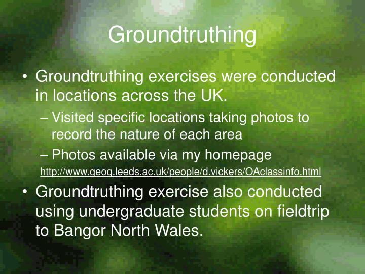 Groundtruthing