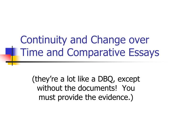 change and continuity essay