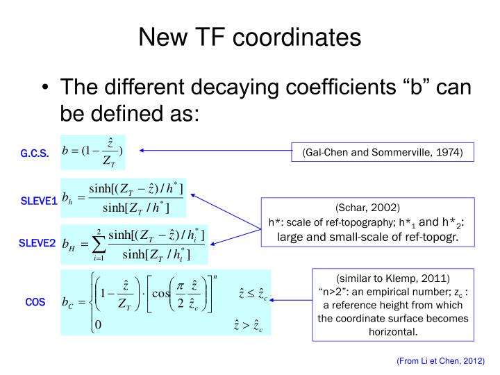 New TF coordinates