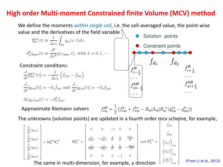 High order Multi-moment Constrained finite Volume (MCV) method