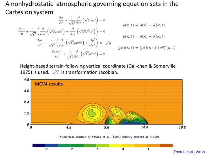 A nonhydrostatic  atmospheric governing equation sets in the Cartesion system