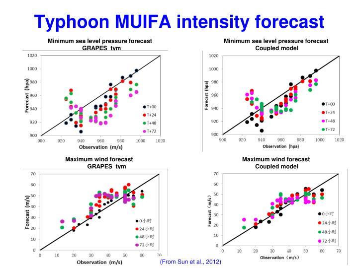 Typhoon MUIFA intensity forecast