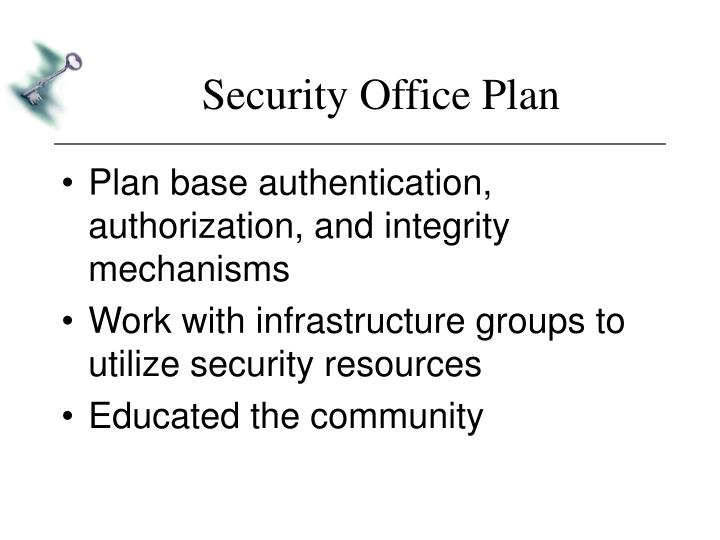 Security Office Plan
