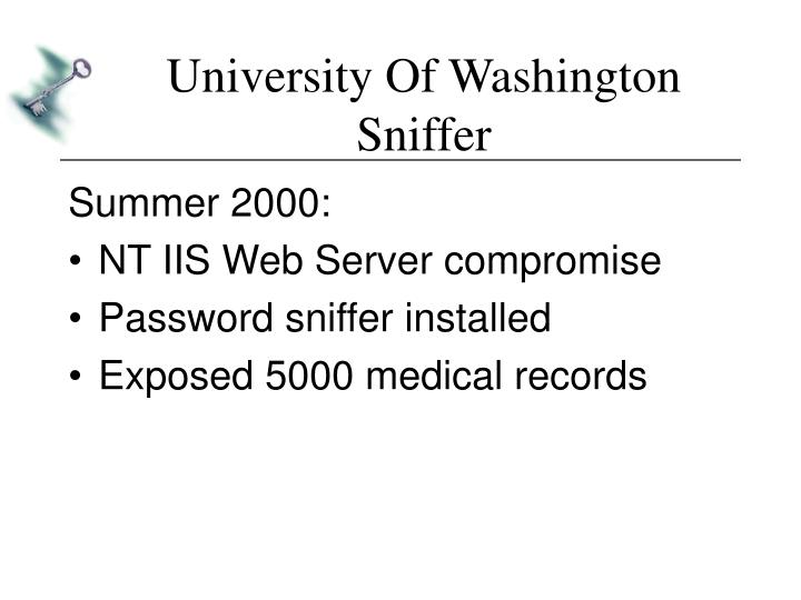 University Of Washington Sniffer