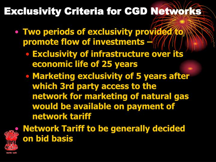 Exclusivity Criteria for CGD Networks