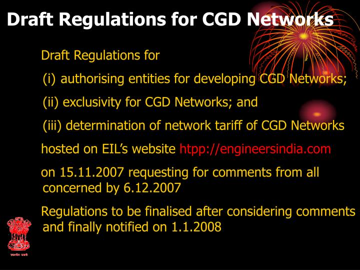 Draft Regulations for CGD Networks