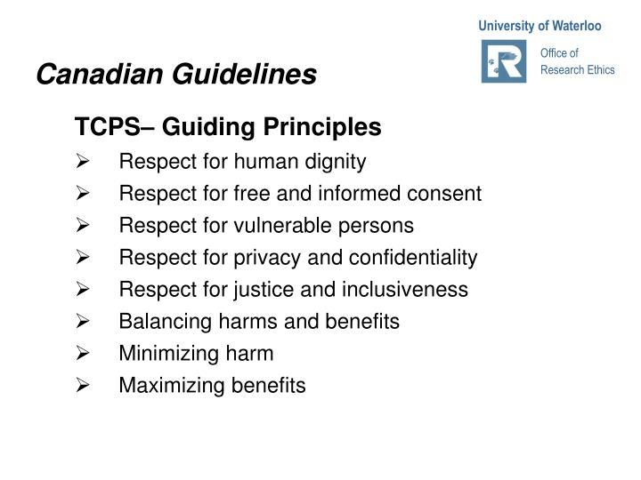 Canadian Guidelines
