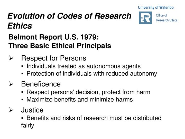 Evolution of Codes of Research Ethics