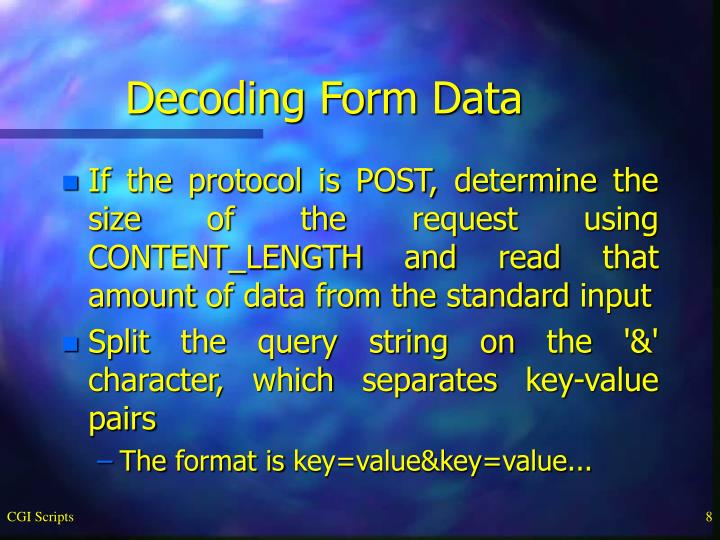 Decoding Form Data