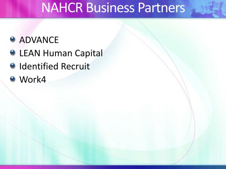 NAHCR Business Partners