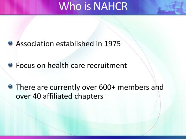 Who is nahcr