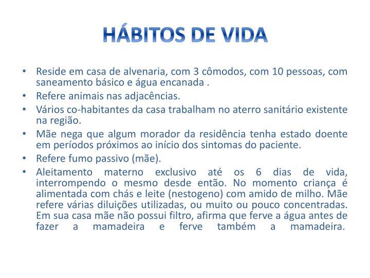 HÁBITOS DE VIDA