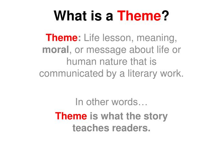 What is a theme