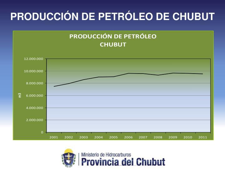 PRODUCCIÓN DE PETRÓLEO DE CHUBUT