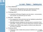 le volet radon habitat priv