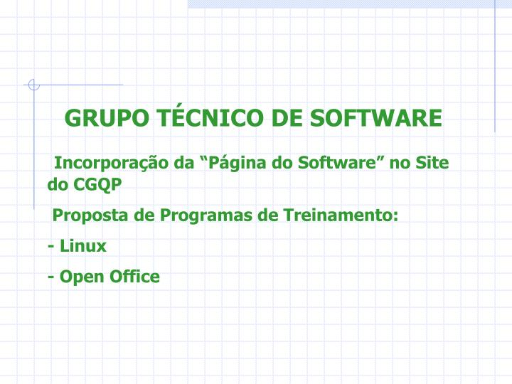 GRUPO TÉCNICO DE SOFTWARE