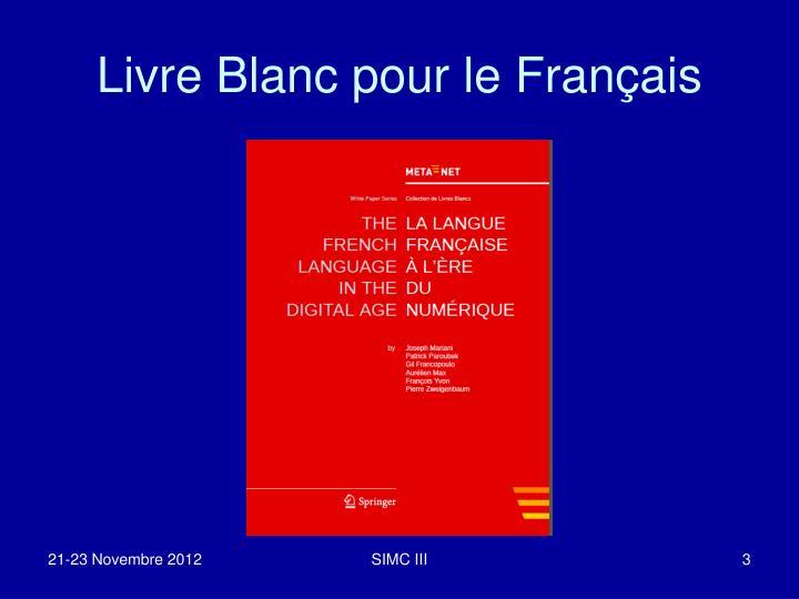 Livre Blanc pour le Français