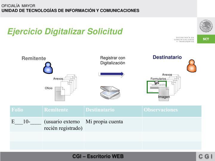 Ejercicio Digitalizar Solicitud
