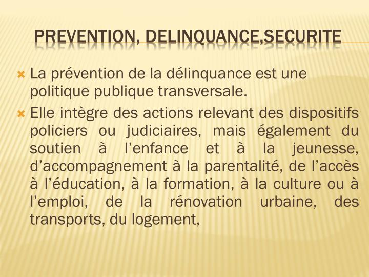 Prevention delinquance securite