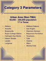 category 3 parameters