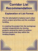 corridor list recommendation3