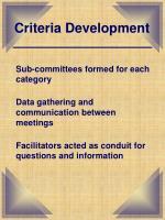 criteria development1