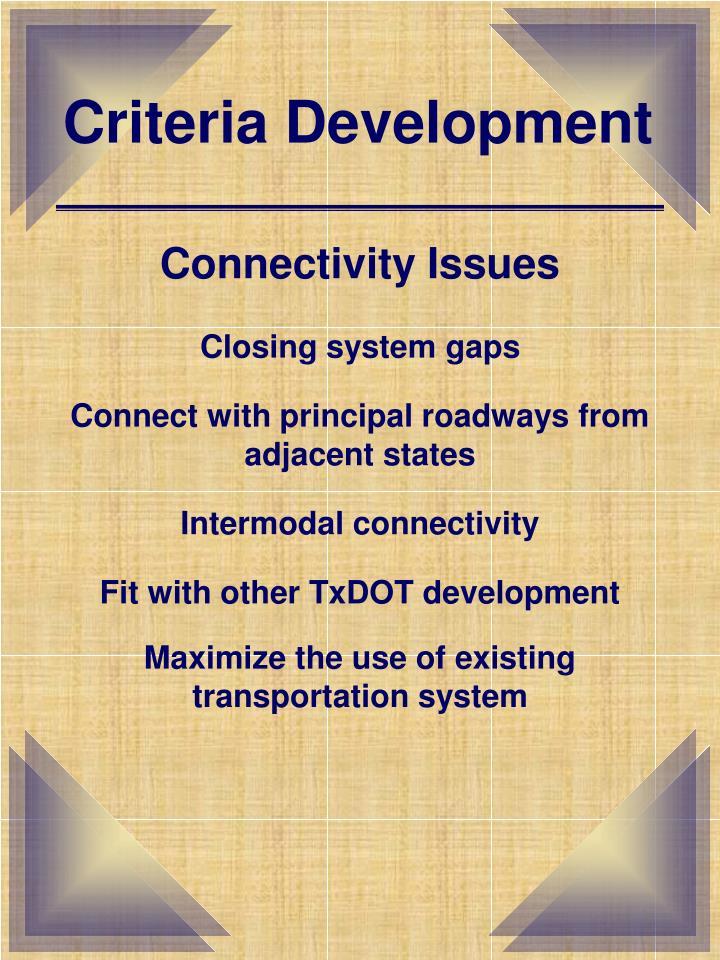 Criteria Development