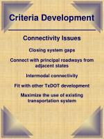 criteria development5