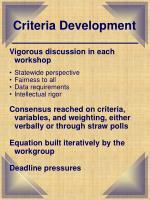 criteria development6