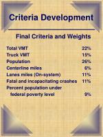 criteria development7