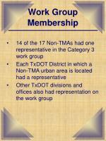 work group membership
