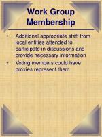work group membership1