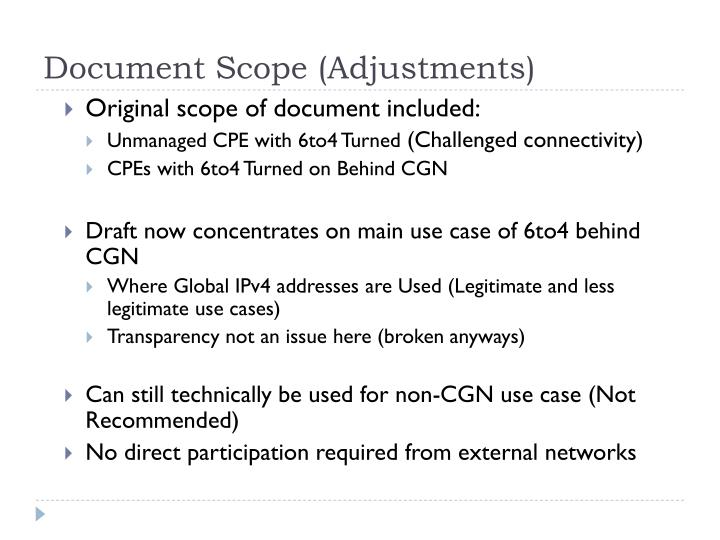 Document Scope (Adjustments)
