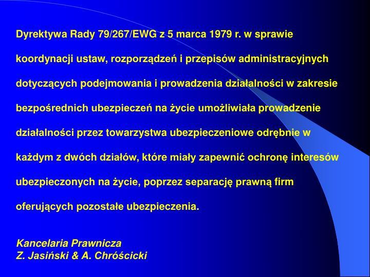 Dyrektywa Rady 79/267/EWG z 5 marca 1979 r. w sprawie