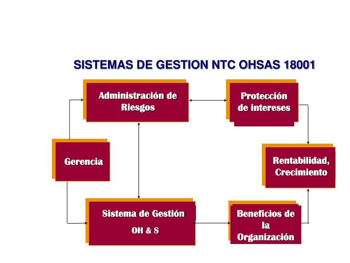 SISTEMAS DE GESTION NTC OHSAS 18001
