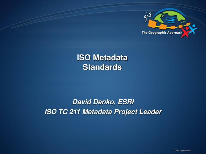 Iso metadata standards