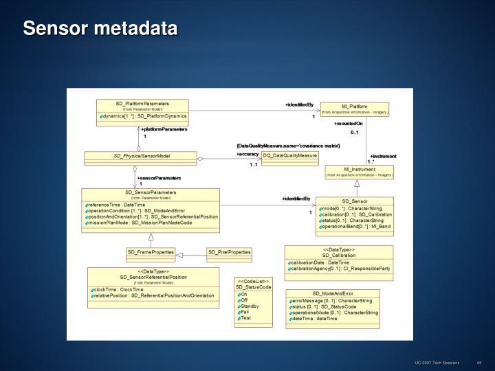 Sensor metadata