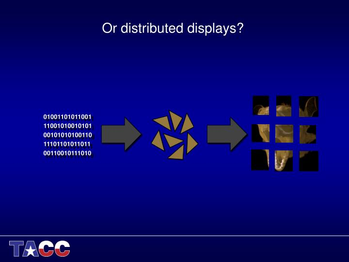 Or distributed displays?