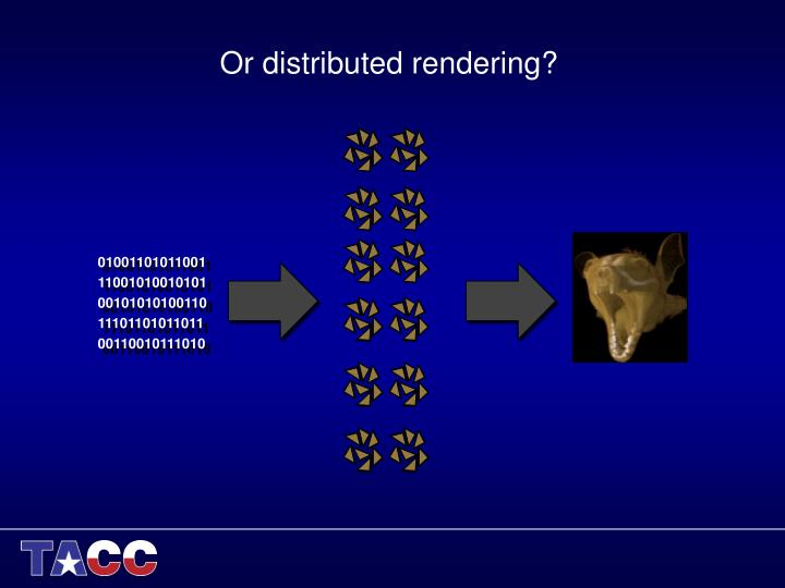 Or distributed rendering?