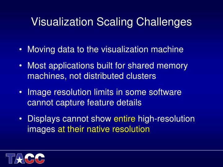 Visualization Scaling Challenges