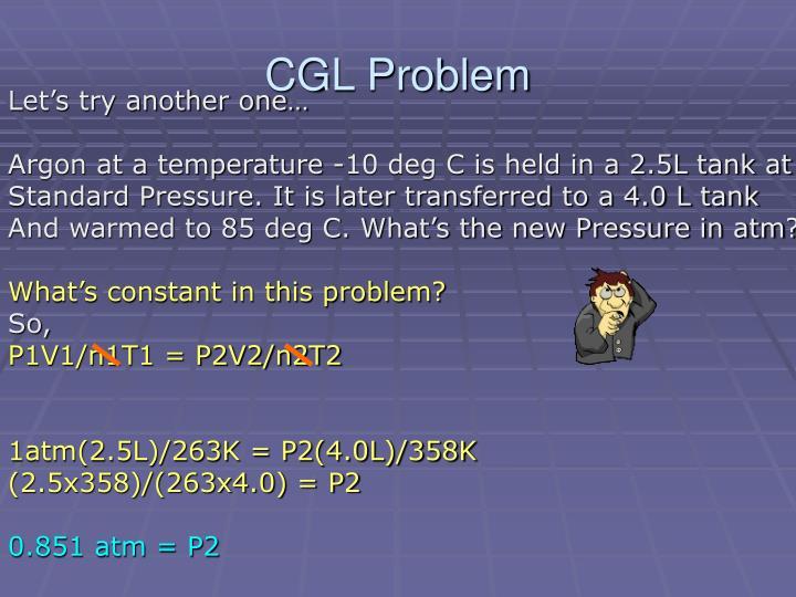 CGL Problem