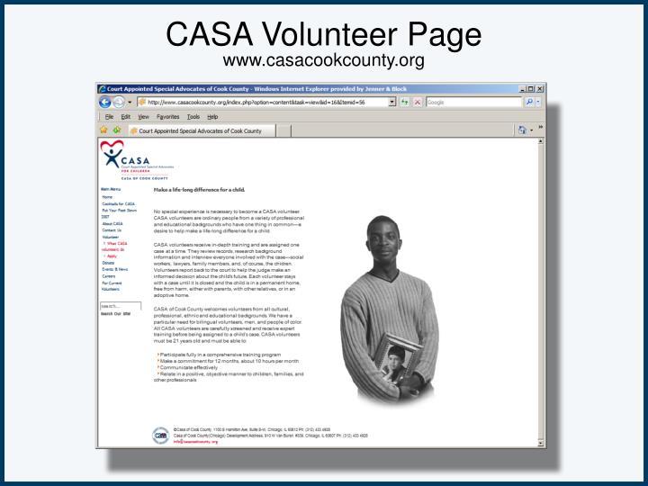 CASA Volunteer Page