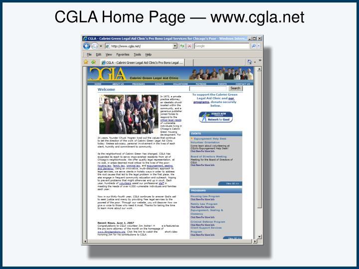 CGLA Home Page — www.cgla.net