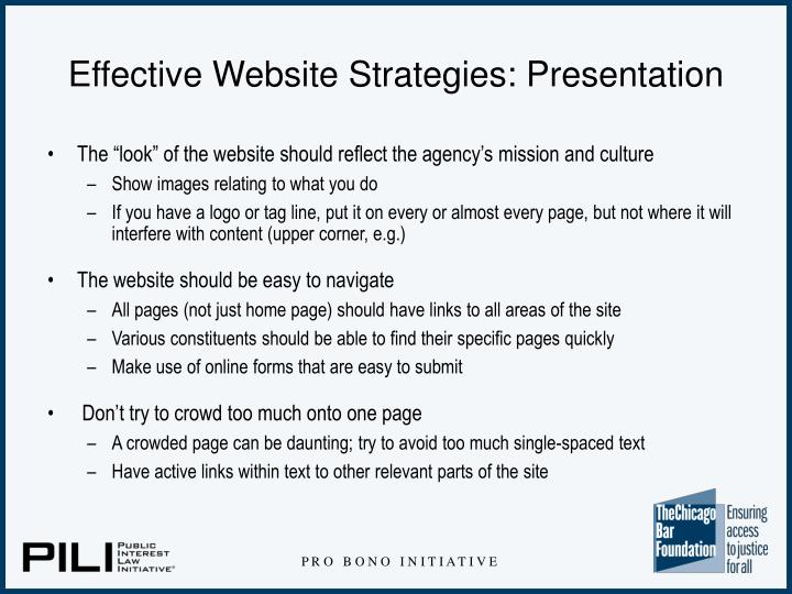 Effective Website Strategies: Presentation